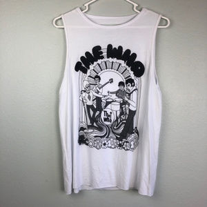NWT The Who Tank by Bravado medium Ripped back Tee